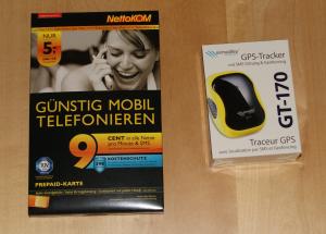 Sim Karte und GPS Tracker (Verpackungen)