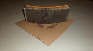 Der alte Luftfilter vom Audi90