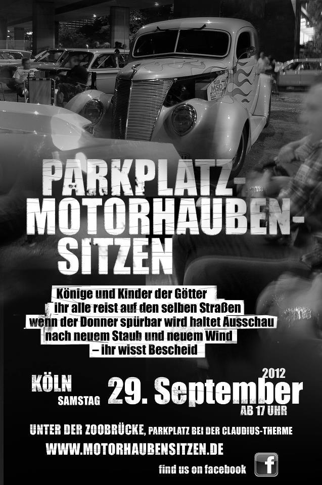 Treffen im September - Motorhaubensitzen - ART