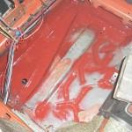 W123 Boden versiegelt