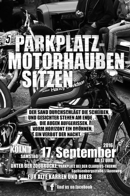 Parkplatz Motorhaubensitzen Köln 2016